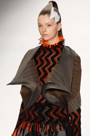 editors: Issey Miyake Show in Paris autumnwinter 2011 collection in Paris in March Editorial