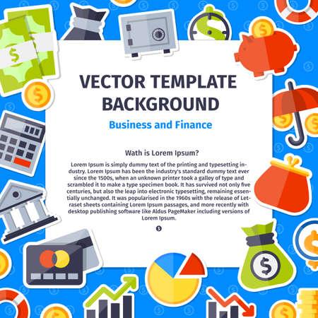 Vector illustration. Happy Valentine day background in flat minimalistic style Illustration