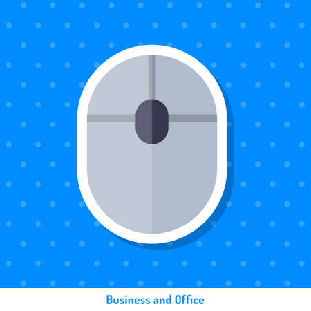 Bright flat icon, sticker. Business and office flat sticker. Icon or sticker on blue background. Icon, sign, symbol, sticker for web design on the topic of office. Bright icon, sticker.