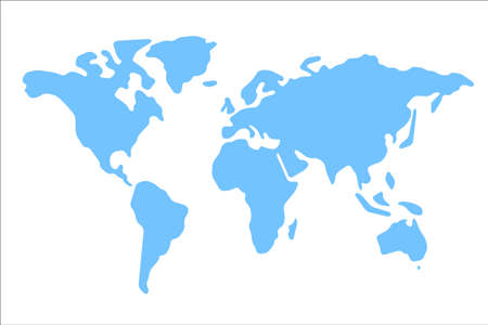 generalized: World map vector illustration. World map on white background. World map on isolated background. Stylized world map. Simplified world map. Generalized world map. World map round corners.