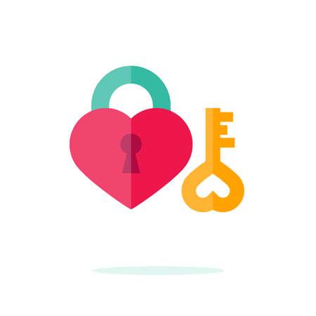 Happy Valentine day icon in flat minimalistic style Illusztráció