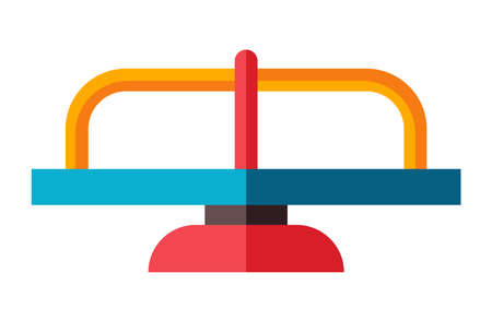 Playground equipment in flat style. Swing on an isolated white background