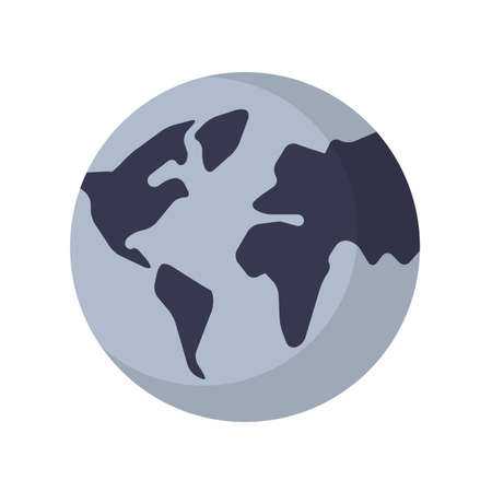 Illustration of Flat icon. Icon of earth planet. A graphic element on the subject of news. Icon or sign isolated on white background. Illustration of earth planet on flat style. Illustration