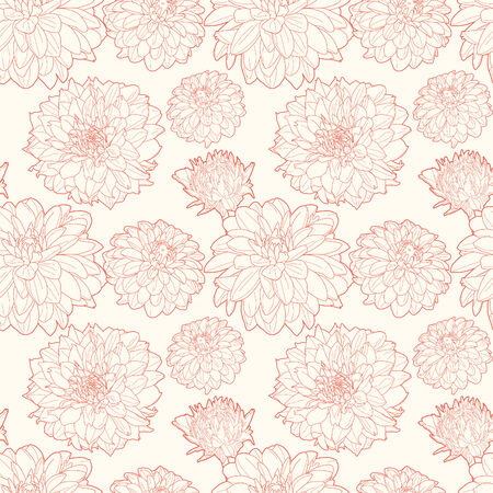 aster: Seamless vintage floral pattern with aster