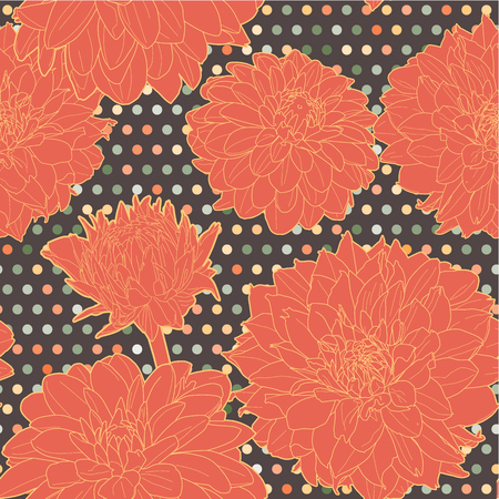 aster: Amazing seamless texture with flowers.