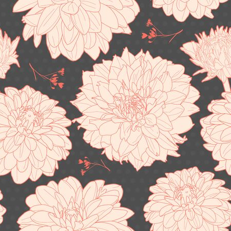 Amazing seamless texture with flowers. Vector
