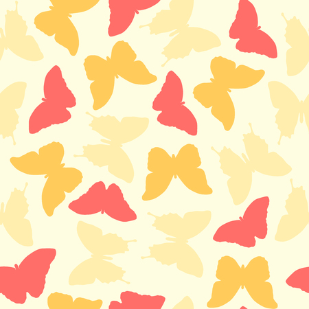 happyness: Seamless amazing vintage butterfly texture.