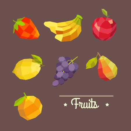 happyness: Amazing vintage illustration with fruits. Illustration