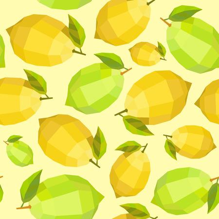 Polígono de época perfecta patrón de limón soleado