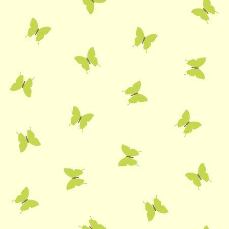 happyness: Seamless vintage green butterfly pattern. Illustration