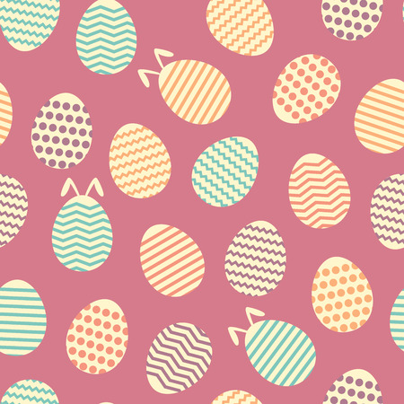 happyness: Seamless easter egg spring violet colorful pattern.