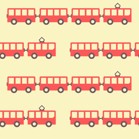 Amazing seamless vintage red tram texture. Vector