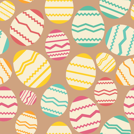 happyness: Seamless easter egg spring colorful pattern.