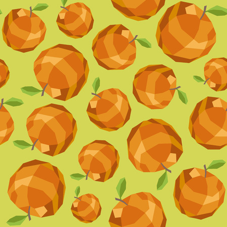 golden apple: Seamless vintage polygon golden apple pattern. Illustration