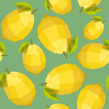 web2: Seamless vintage polygon lemon pattern.