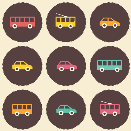 car pattern: Amazing seamless vintage car pattern.
