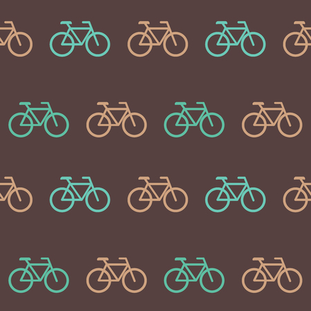 Amazing seamless vintage bicycle pattern. Vector