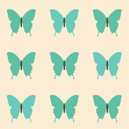 happyness: Seamless amazing vintage butterfly pattern.