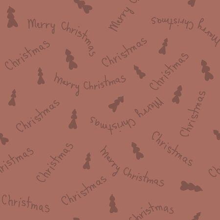 brown pattern: Christmas amazing seamless cute tree brown pattern.