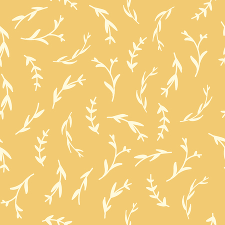 Essential oil vector seamless pattern. Thyme, rosemary, lavender, basil, citronella, pine, peppermint. Illustration. Illustration