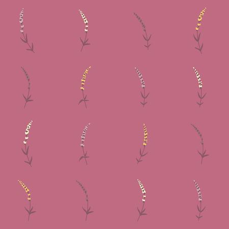 lavender oil: Essential oil vector seamless pattern. Thyme, rosemary, lavender, basil, citronella, pine, peppermint. Illustration. Illustration