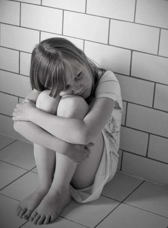 A child victim of abuse Stock Photo - 9606800