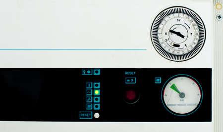 propane tank: Old boiler heating panel