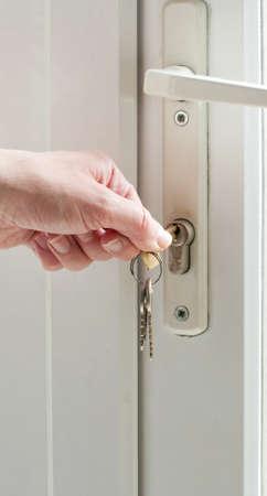 accommodate: locking door Stock Photo
