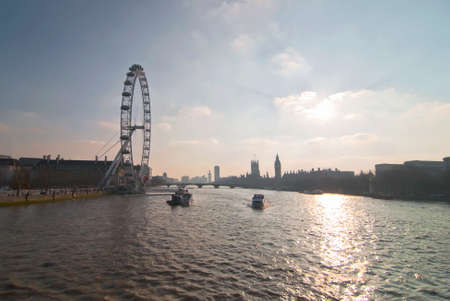 london eye: London skyline
