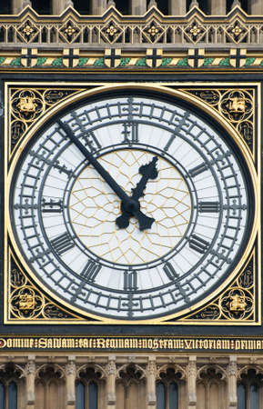 The clock face of Big Ben in London Editorial