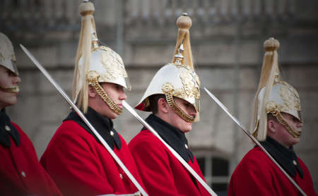 cavalry: Household cavalry at Buckingham palace