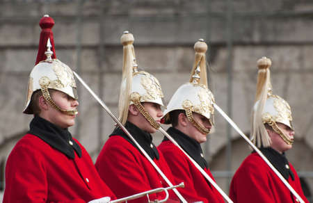 buckingham palace: The household cavalry Editorial