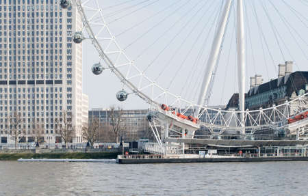 The London eye on the River Thames Stock Photo - 13744813