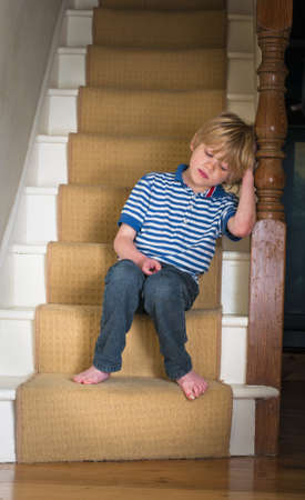 sad boy: Sad little boy