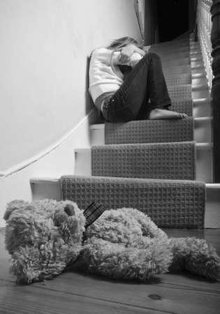 maltrato infantil: Abuso de ni�os Foto de archivo