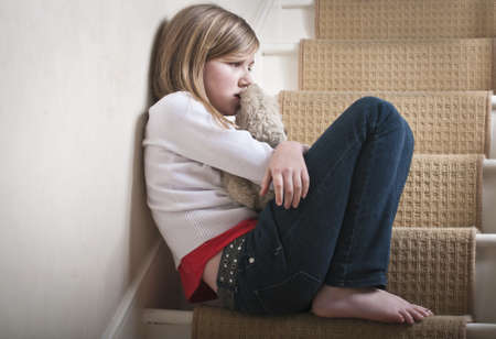 child abuse: Alone Stock Photo
