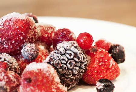 Frozen fruits photo