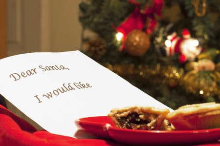 Letter for santa Stock Photo - 13900915