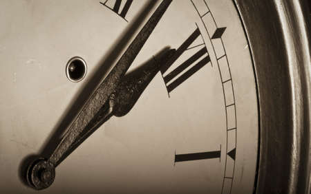 wooden clock: Old clock