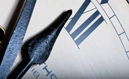 Clock hands detail photo