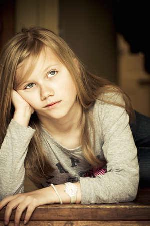 Upset Mädchen Standard-Bild - 14904169
