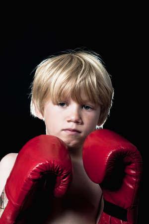 Boy boxing photo