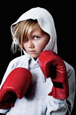 girl punch: Young female boxer