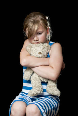 sad child: Neglected child Stock Photo