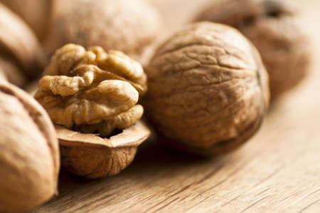Walnut macro Stock Photo