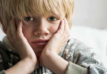 homeless children: Upset boy