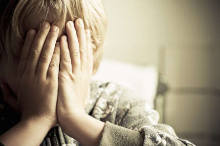 Boy crying Stock Photo