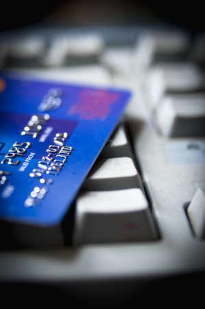 Kreditkarte für Online-Shopping Standard-Bild