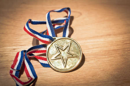 Gold star winners medal Stock Photo - 16710283