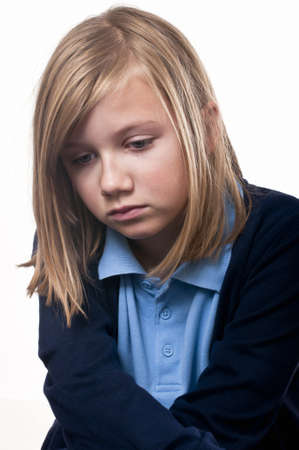 ojos llorando: Preocupado niño